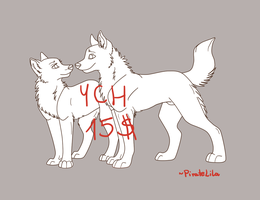 YCH canine couple by PirateLila