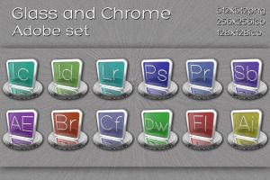 glass and chrome adobe set by xylomon