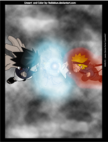 Raruto vs Sasuke Color by feddekun