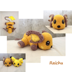 Amigurumi-raichu by Caterpillor