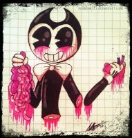 .Maniac Demon-Pastel Gore-Bendy. by vocaloid121