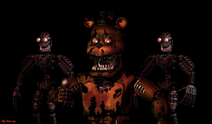 Nightmare Freddy Render by HectorMKG