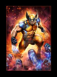 Sideshow Marvel-Print-Wolverine by Dave-Wilkins