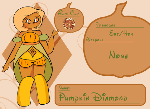 autumn rose sparkle pumpkin dotz diamond