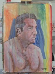 Life Painting Male Portrait by JohnMKimmins