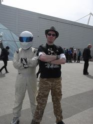 Me and Top Gears Stig at London MCM Expo by DoctorWhoOne