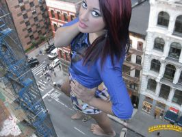Giantess crush downtown by lowerrider