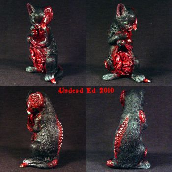Zombie Black Cat eating by Undead-Art