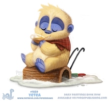 Daily Paint 1859# Yetea by Cryptid-Creations