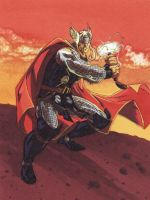 Mighty Thor - n3gative-0 color by SpiderGuile