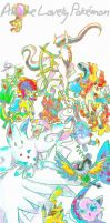 all the lovely Pokemon by MissNeens