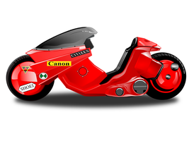 Akira motorcycle with inkscape 0.48.4 by AxelMuller