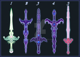 [Close]  Adoptable Weapon Auction 15,20-22,27 by LifStrange