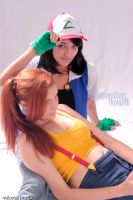 Ash and Misty Pokemon Cosplay