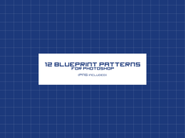 12 Blueprint patterns for Photoshop by CIRQUAN