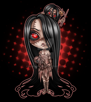 Dollmaker chibi by Harpyqueen