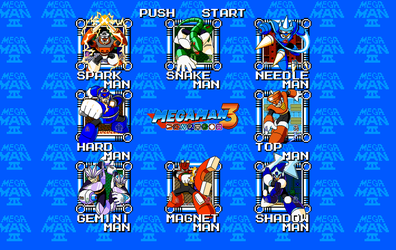 Mega Man 3 - Stage Select by KipoyTheNarwhal