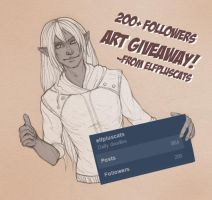 Tumblr Art Giveaway by Lysandr-a