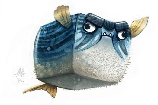 Daily Paint #656. They see me floati'n by Cryptid-Creations