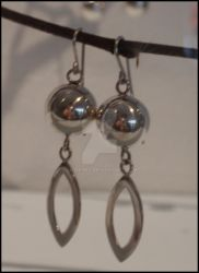 Silver ball Earings by Lothling