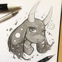 Galaxy - Com Sketch by TheLittleArtyThing