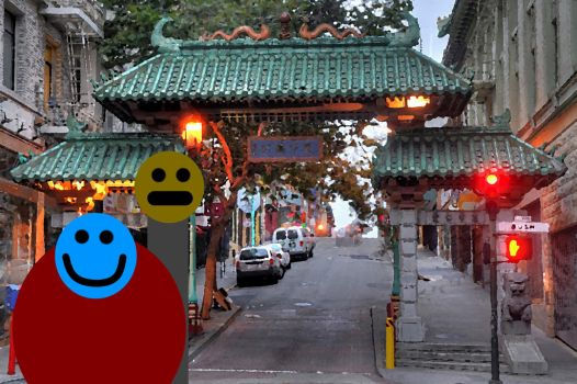 Two Buddhas visit Chinatown 1 by morgandrake