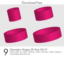 Geometric Shapes 3D Pack HD 01 by manuelvelizan