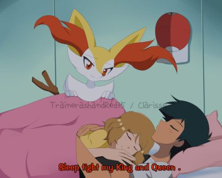 CM : Amourshipping-Sleeping by TrainerAshandRed35