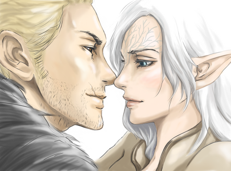 Dragon Age Inquisiton: Staring contest by EseEbi
