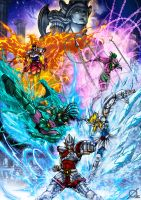 Saint Seiya by Osmar-Shotgun