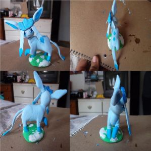 1st Glaceon Clay Figure by Dream-Paint