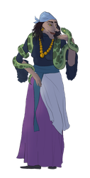 Character Design: Gypsy lady by mettetettee