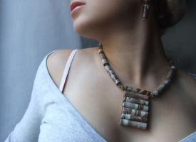 necklace earrings No. 2-024 by anamirela