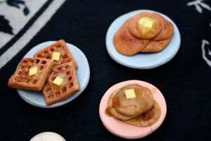 miniature pancakes and waffles by star--crossed