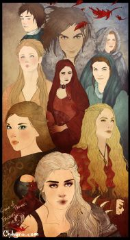 Game of Thrones Female Characters by Chihyro