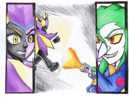 Battle of the Clowns by MorganCluelessGoat