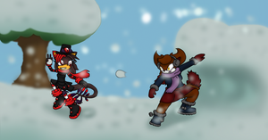 Winter Contest: flaming cold.. by silhouette345
