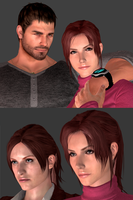 Redfields, and WIP Claire. by DaemonCollection