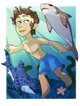 Lance Swims With Sharks|Voltron| by XxDawnFluffyCatXx