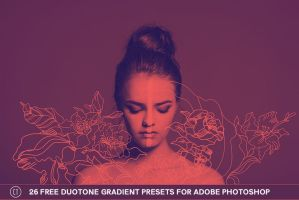 26 Free Duotone Gradient Presets for Photoshop by symufa