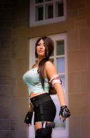 At Croft Manor (Lara Croft Tomb Raider cosplay) by MissChezza