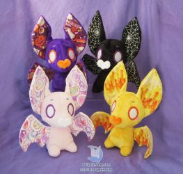 Halloween Bat Plushies by dollphinwing