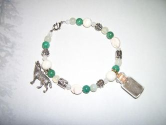Crystal Oasis Wolf Spirit Totem Bracelet (SOLD) by DaybreaksDawn