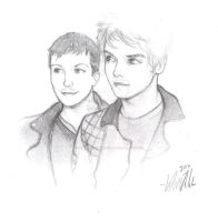 Frank Iero and Gerard Way by SCRiBBLeFoHSHiZZLe