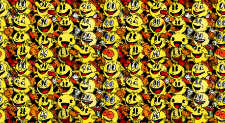 March of the Pac-Mans (wallpaper?) by AshumBesher