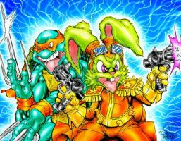 RAPH AND BUCKY O'HARE by Sweet-Babboo
