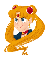 just another sailor moon doodle by drawnbykenna