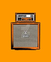 Orange Half Stack Guitar Amp 2 by maggiemgill
