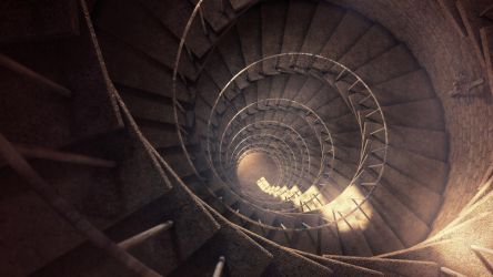 Spiral staircase by Belolis