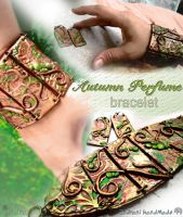 Autumn Perfume Bracelet and Earrings by indrani-handmade